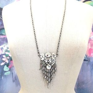 BANANA REPUBLIC crystal baguette glam necklace $98